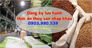 Đăng ký lưu hành thức ăn thủy sản nhập khẩu